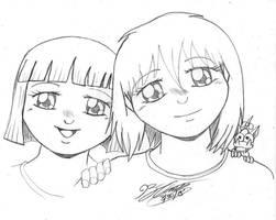 Two Girls by JimmyDrawsArt