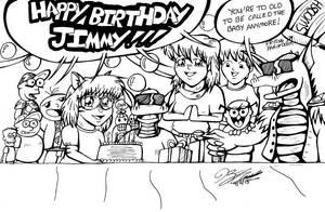 Jimmy's Birthday Party by JimmyDrawsArt