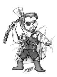 Inktober Day 27: Thor, The god of Thunder by JimmyDrawsArt