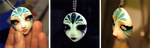 Venetian Mask Pendant by Loonaki