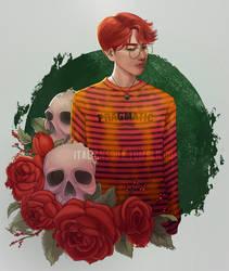 Red Baekhyun by theitaliansoda