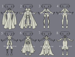 Outfit Adoptable Set 17 - OPEN (1/8) by imaginary-shops