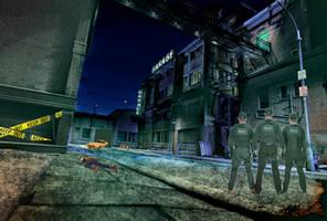 Garage Scene 4am by Chlodulfa