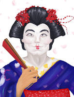 Geisha WIP by SakuraDalia