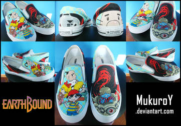 EarthBound shoes FINISHED by MukuroY