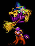 FiM Abra-ca-dabra and Pumpkin Tart by AClockworkKitten