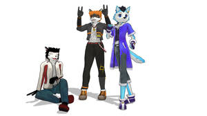 MMD Row and Friends by Nanashione