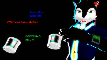 MMD Sound Bar Bracelets Download by Nanashione