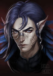 Commission: Daemon by AltaGrin