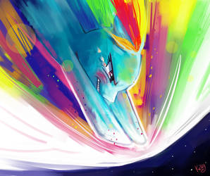 Rainbowdash Speedpaint by Kellykatz