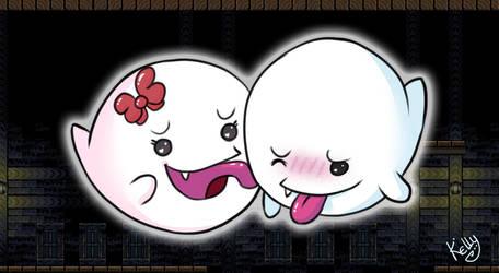 Boo Affection - Drawlloween - Day1 Ghost by Kellykatz