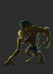 Drawlloween - Day5 Werewolf by Kellykatz