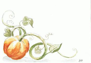 Drawlloween - Day 6 Pumpkin by Kellykatz