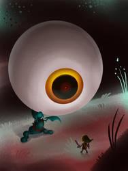 The Boss - Drawlloween - Day 9 Eyeball by Kellykatz