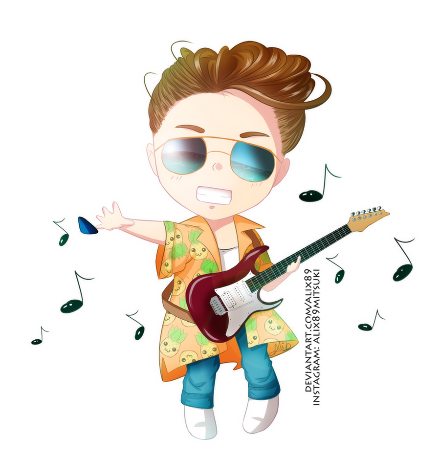 [Commission] Chibi Guitar by Alix89