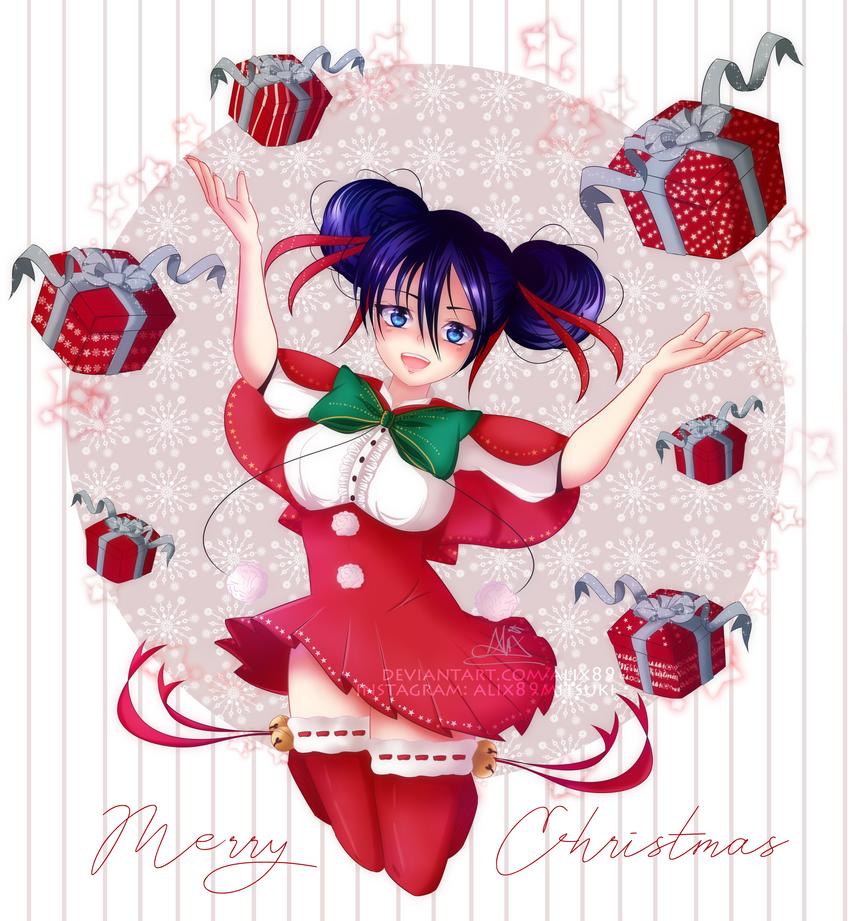 Mitsuki Merry Xmas [OC] by Alix89
