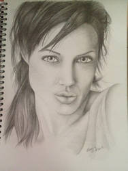 Traditional Art - Portrait Drawing (Pencil) by KoolBluSky