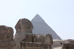 Sphinx + Pyramid II by LexartPhotos