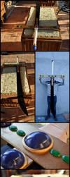 Wooden sword No 6, Mihawk's Kokutou Yoru by Il-Gritz