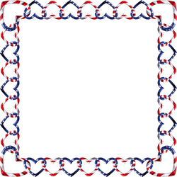 Square Frame red white blue 3 by happyare
