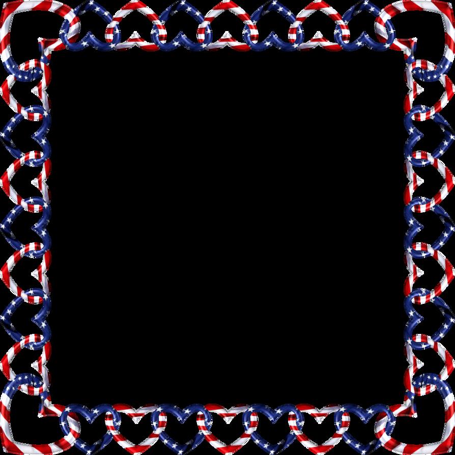Square Frame Red White Blue 3 By Happyare On Deviantart