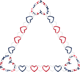 Triangle Frame red white blue 1 by happyare
