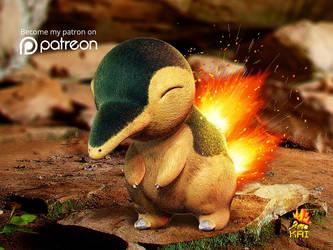 Realistic Pokemon: Cyndaquil by KaiKiato