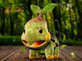Realistic Pokemon: Turtwig by KaiKiato