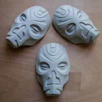 Dragon Priest mask (miniatures) - Skyrim by ArsynalProps