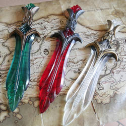 Glass Daggers Inspiration - Skyrim by ArsynalProps