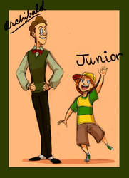VT: Human Archibald and Junior by crumblygumbly