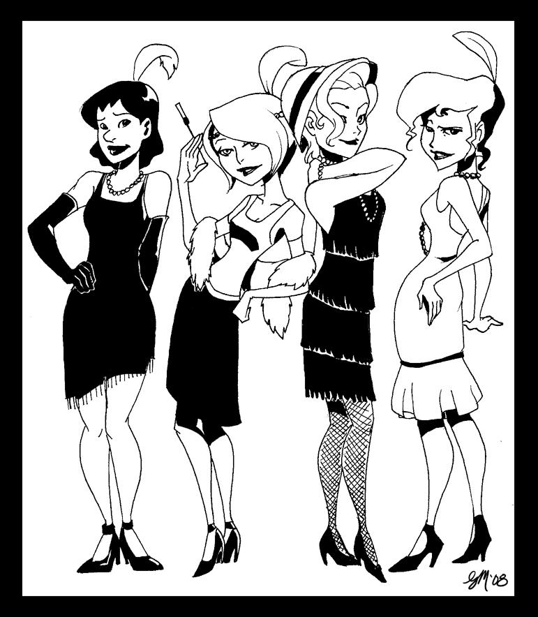 synletau flappers by crumblygumbly on deviantart 1920 Flapper Barbie synletau flappers by crumblygumbly