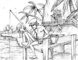 Captain of Plastic Beach by crumblygumbly