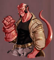 Hellboy by crumblygumbly