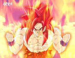Goku Super Saiyan God - Super Saiyajin Dios by CFFC2010