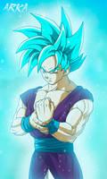 Kal Super Saiyan Blue - Super Saiyajin Azul by CFFC2010