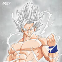 Goku Super Saiyan White - Super Saiyajin Blanco by CFFC2010