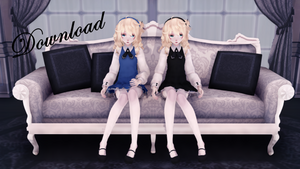 MMD Rin Doll DL by MMDMMiki