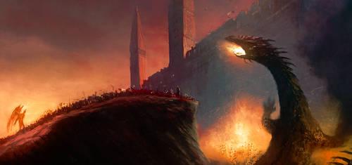 The fall of Gondolin by ralphdamiani