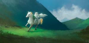 The White Rider by ralphdamiani
