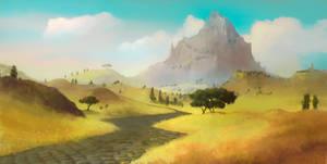 Across Middle-Earth - Weathertop by ralphdamiani