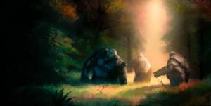 Across Middle-Earth - Trollshaws by ralphdamiani