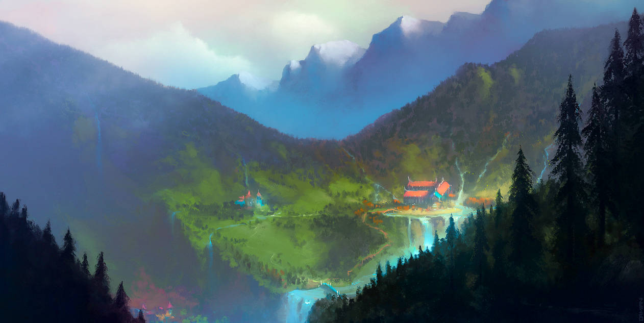 Across Middle-Earth - Rivendell by ralphdamiani