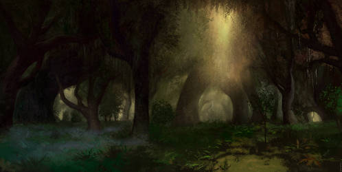Across Middle-Earth - The Eaves of Fangorn by ralphdamiani