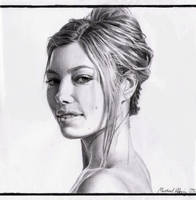 Jessica Biel by MikeRobinsArt
