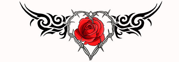 Barbwire Heart Rose Tattoo By Moatswimmer Inugrl On Deviantart