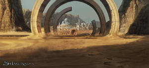 Silvernai: Ring gate to the desert city by noiprox