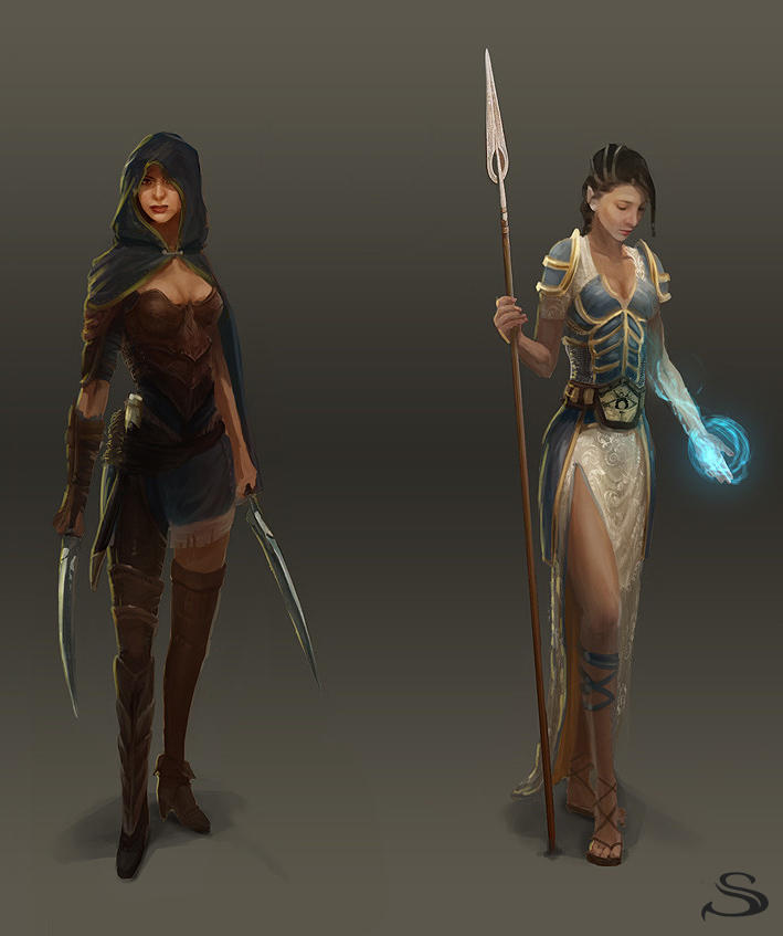 Silvernai: character concept pack 2 by noiprox