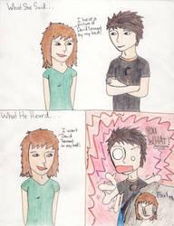 What she said, what he heard by FairyMae