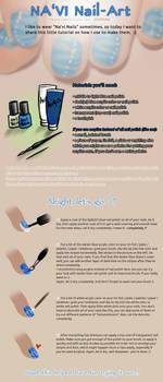 AVATAR NA'VI Nail Art Tutorial by sickdelusion